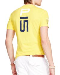 Polo Ralph Lauren | Yellow Sailing Team Graphic T-Shirt for Men | Lyst