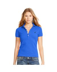 Polo Ralph Lauren | Blue Skinny-fit Stretch Polo Shirt | Lyst