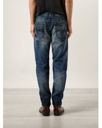 DIESEL - Blue 'Narrot' Sweat Jeans for Men - Lyst