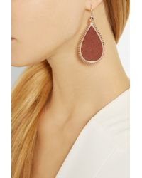Eddie Borgo - Metallic Rose Gold-Plated Sandstone Earrings - Lyst