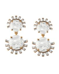 Asha | White Tallulah Earrings, Mother Of Pearl | Lyst
