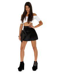 Missguided | Black Malke Pony Skin Aline Skirt | Lyst
