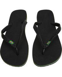 Havaianas | Black Brazil Flip-flops for Men | Lyst