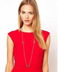L.K.Bennett - Metallic Multi Charm Necklace - Lyst