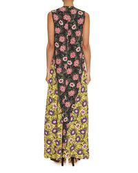 Marni | Orange Asticon-Print Crepe Maxi Dress | Lyst