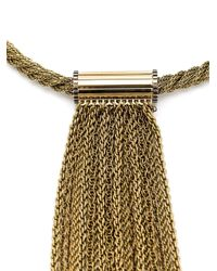 Lanvin | Yellow Long Chain Fringe Necklace | Lyst