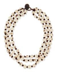 Eskandar - White 3-strand Necklace - Lyst