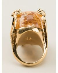 Alexander McQueen - Metallic Skull Cocktail Ring - Lyst
