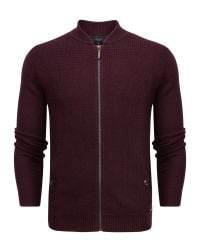 Ted Baker - Red Duk Knitted Bomber Jacket for Men - Lyst
