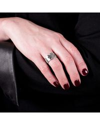 Edge Only - Metallic Club Stacking Ring Silver for Men - Lyst