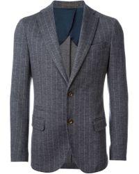 Eleventy - Gray Pinstriped Blazer for Men - Lyst