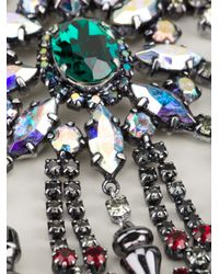 Mawi - Metallic Tiered Crystal Necklae - Lyst
