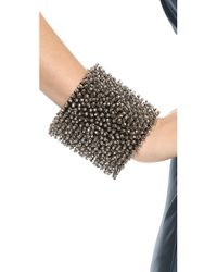 Vera Wang Collection - Gray Spike Bracelet Hematite - Lyst