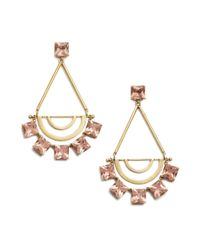 Tory Burch | Metallic Open Jeweled Statement Earring | Lyst