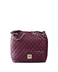 Love Moschino | Purple Quilted Faux-Leather Shoulder Bag | Lyst