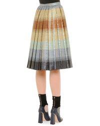 Marco De Vincenzo - Multicolor Pleated Degrade Shimmer Skirt - Lyst