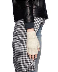 The Elder Statesman - White Cashmere Fingerless Gloves - Lyst