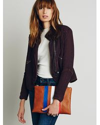 Free People | Brown Matchless Vegan Clutch | Lyst