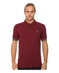 Fred Perry - Red Champion Tipped Shirt for Men - Lyst