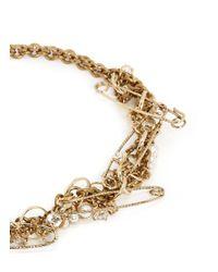 Lulu Frost | Metallic 'kinship' Safey Pin Twist Chain Pearl Necklace | Lyst