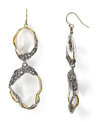 Alexis Bittar - Metallic Lucite Crystal Framed Pebble Dangle Wire Earrings - Lyst