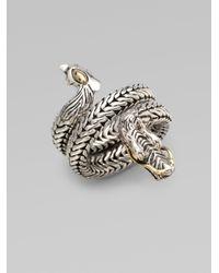 John Hardy | Metallic Naga 18K Yellow Gold & Sterling Silver Dragon Coil Ring | Lyst
