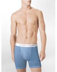 Calvin Klein - Blue Underwear Classics Big + Tall Boxer Brief for Men - Lyst