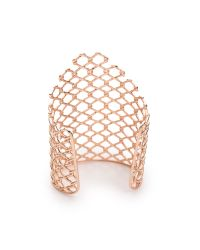 Alexis Bittar - Metallic Barber Linked Cuff Bracelet Rose Gold - Lyst