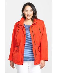 MICHAEL Michael Kors - Red Four Pocket Anorak - Lyst