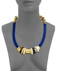 Lizzie Fortunato | Blue Tortola Beaded Suede Treasure Necklace | Lyst