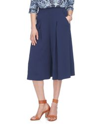 Rebecca Taylor - Blue Refined Suiting Culotte - Lyst