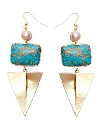 Nakamol | Multicolor Baobob Earrings-blue Turquoise | Lyst