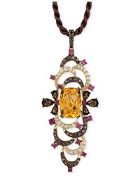 Le Vian | Multicolor Multi-stone Pendant Necklace (9-1/2 Ct. T.w.) In 14k Gold | Lyst