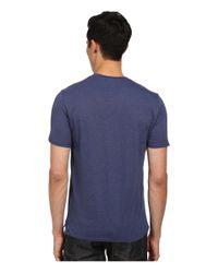 VINCE | Blue V-neck Pocket Tee for Men | Lyst