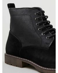 TOPMAN - Black Hi Leg Boots for Men - Lyst
