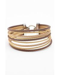 Alor | Metallic Stack Bracelet - Bronze/ Blush/ Yellow | Lyst