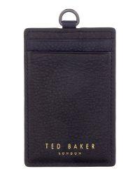Ted Baker | Black Sor Leather Bracelet for Men | Lyst