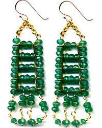 Wendy Mink | Green Onyx Faceted Earrings | Lyst