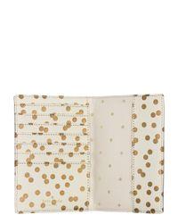 Kate Spade | Natural Cedar Street Confetti Dot Travel Passport Holder | Lyst