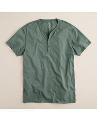 J.Crew | Green Slim Broken-in Short-sleeve Henley for Men | Lyst