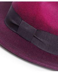 Paul Smith - Pink Degrade Wool Fedora Hat - Lyst