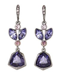 Givenchy - Hematite-Tone & Purple Earrings - Lyst