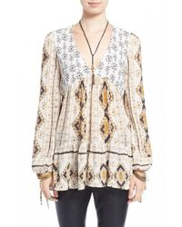 Free People | Multicolor 'viole Bay' V-neck Tunic | Lyst