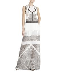 BCBGMAXAZRIA - Black Runway Natasha Silk Dress - Lyst
