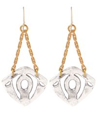 Lulu Frost | Metallic Silver-tone Atrium Glass Crystal Drop Earrings | Lyst