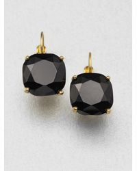 kate spade new york | Metallic Faceted Square Drop Earrings | Lyst