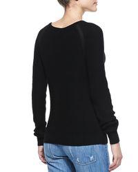 Vince - Suspension Raglansleeve Knit Sweater Black - Lyst