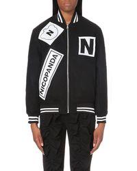 Nicopanda | Black Appliqué-detail Wool-blend Jacket | Lyst