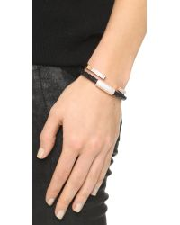 Vita Fede - Metallic Solitaire Crystal Bracelet - Rose Gold/clear - Lyst