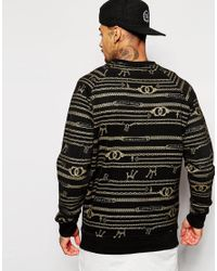 Cheats & Thieves - Black Chain Link Crew Sweatshirt for Men - Lyst